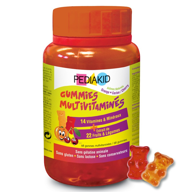 PEDIAKID GUMMIES multivitamines oursons gommes